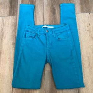 {Joe's Jeans} Turquoise Skinny Jeans